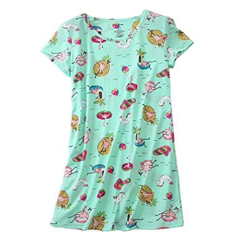 ENJOYNIGHT Women's Sleepwear Cotton Sleep Tee Short Sleeves Print Sleepshirt (Small, Colors)