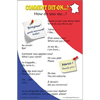 Amazon french language poster greetings and common phrases french language poster greetings and common phrases bilingual chart m4hsunfo