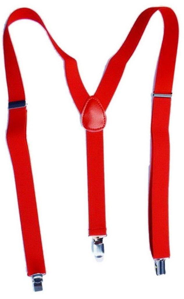 Y-BOA - Bretelle Y élastique–Unisexe– L.100* L.2.5CM - Femme/ Homme Moderne – Réglable - Solide –Casual- Pantalon Jeans (Rouge)
