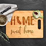 Lily's Atelier Custom Engraved Cutting Board - Wedding, Anniversary, Housewarming, Birthday, Corporate Gift and for Awards - Customizable, Personalized State Name - D5