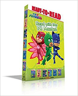 Amazon.com: Read with the PJ Masks!: Hero School; Owlette and the Giving Owl; Race to the Moon!; PJ Masks Save the Library!; Super Cat Speed!;
