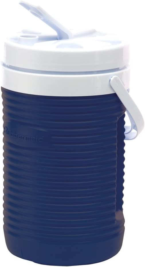 Rubbermaid Victory Jug Water Cooler, 1/2-gallon, Blue