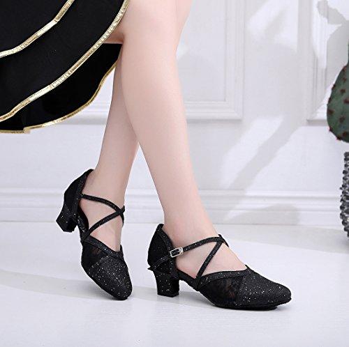 MGM Black Jazz Heel Mujer Contempóraneo Y Joymod 5cm XXxrq1