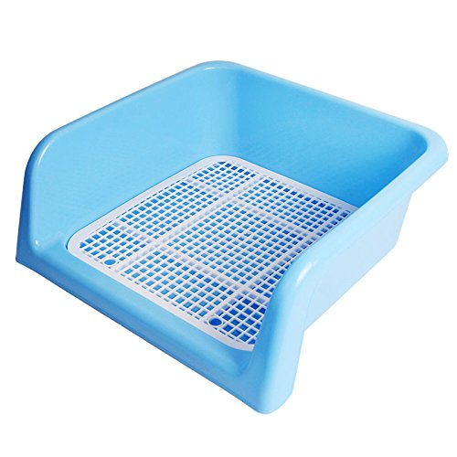 UPC 699902930623, TeekLand Portable Plastic Fenced Toilet Potty Pee Training Tray Litter Box For Dog Puppy Pet (M, Blue-without stand column)