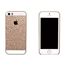 iPhone SE Case, Asstar [Stand Feature] Luxury Shiny Sparkle Glitter Bling Attractive twinkle Case with PU Hard Protective Bumper Cover Case for iPhone SE / 5S / 5 (Rose gold)