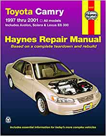 Toyota Camry Avalon Solara Lexus Es 300 1997 Thru 2001 Haynes Repair Manual Robert Maddox Jay Storer John H Haynes 9781563924040 Amazon Com Books