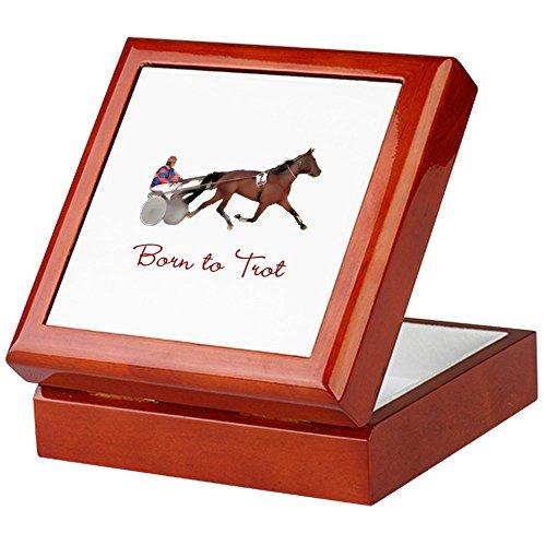 CafePress - Born to Trot - Keepsake Box, Finished Hardwood Jewelry Box, Velvet Lined Memento Box