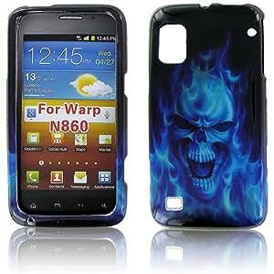 ZTE N860 (Warp) Blue Skull Protective Case