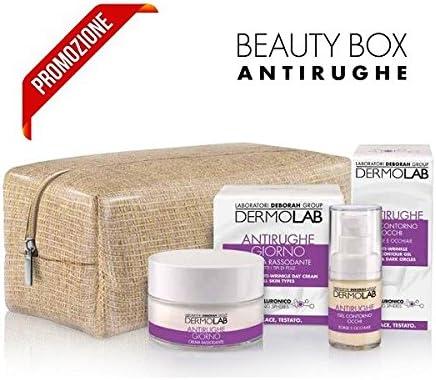Dermolab Beauty Box - Pack de crema antiarrugas para la cara, 50 ml + Gel de contorno para ojos, 15 ml: Amazon.es: Belleza