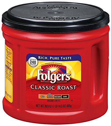(Folgers Classic Roast Ground Coffee, Medium Roast, 30.5 Ounce)