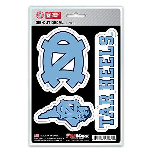 - NCAA North Carolina Tar Heels Team Decal, 3-Pack