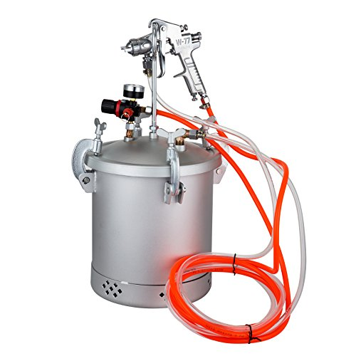 VEVOR Paint Tank 10L / 2.5 Gallon Pressure Spray Gun Regulator Pressure Pot Paint Sprayer (10L 1.5mm)