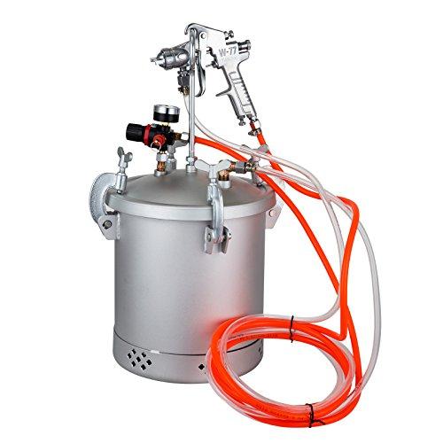 VEVOR Paint Tank 15L / 4 Gallon Pressure Spray Gun Regulator Pressure Pot Paint Sprayer (10L 1.5mm)