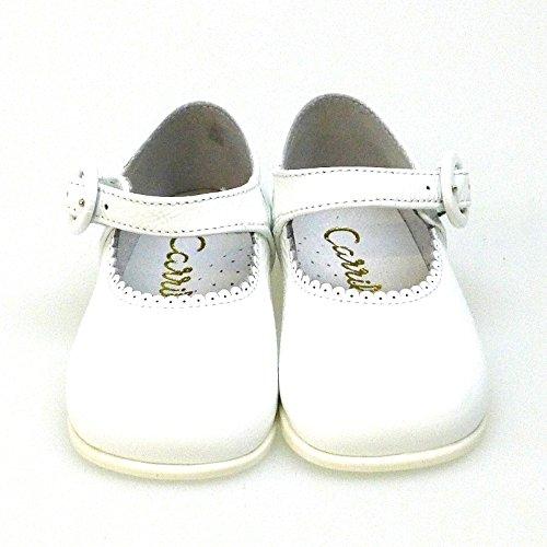 Zapatos Blanco 10318 Merceditas Pasos Primeros Bailarinas 0vvq4Afw