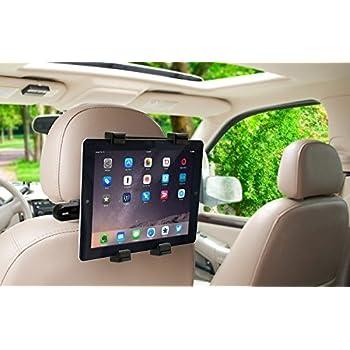 "YueYueZou® Car Back Seat Headrest Mount Holder for iPad, iPad Air, iPad Mini, iPad Pro 9.7, Samsung Tab, Asus Transformer, all 7"" to 10"" Tablets"