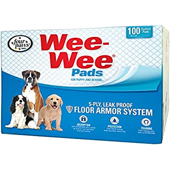 Four Paws Wee-Wee Standard Puppy Pads, 100 Ct Box