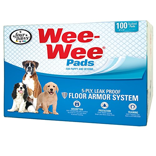(Four Paws Wee-Wee Standard Puppy Pads, 100 Ct Box)