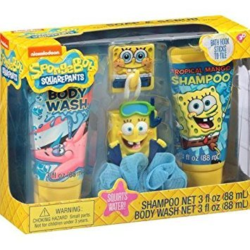 SpongeBob SquarePants Soap & Scrub Gift Set, 4 pc