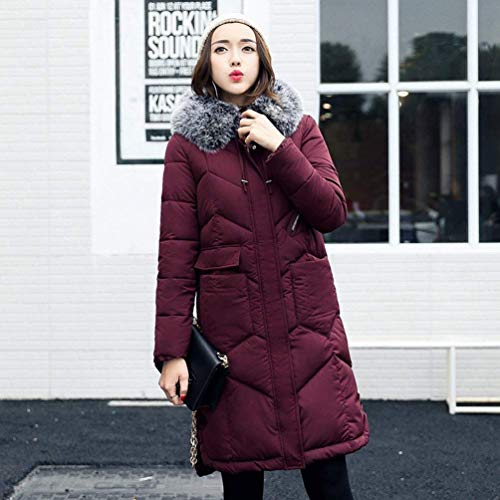Jacket with Mode Sleeve Padded Fur Winered Comfortable Jacket Long Jackets Casual Long Quilted Down Coat Fashion Winter Ladies Zipper Collar Coat Faux Color Solid Warm Slim Fit Autumn Winter Down wIzq1nxXB