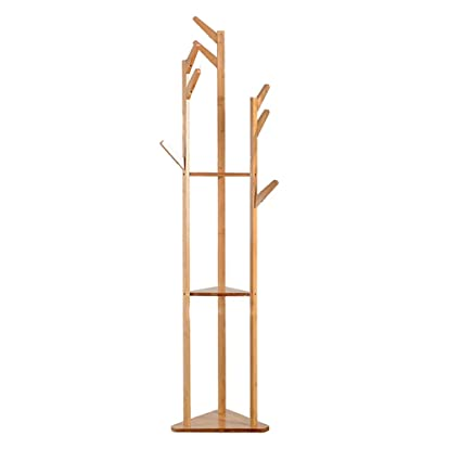 Amazon.com: Coat Stand 2 in 18 Hooks with Adjustable Wooden ...
