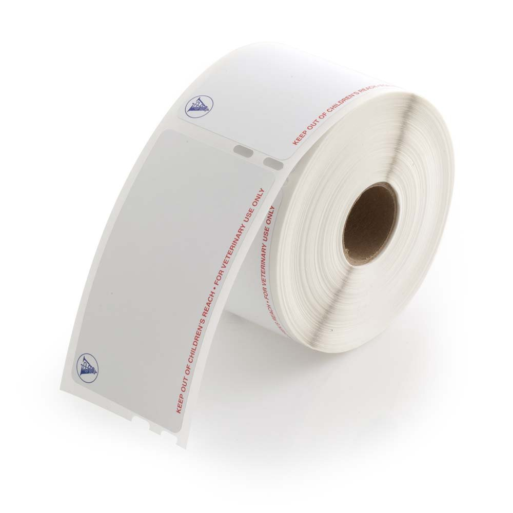 IDEXX Compatible Veterinary Labels, 1-15/16'' x 3-1/2'' - 400 Labels Per Roll, 1 Roll Per Package