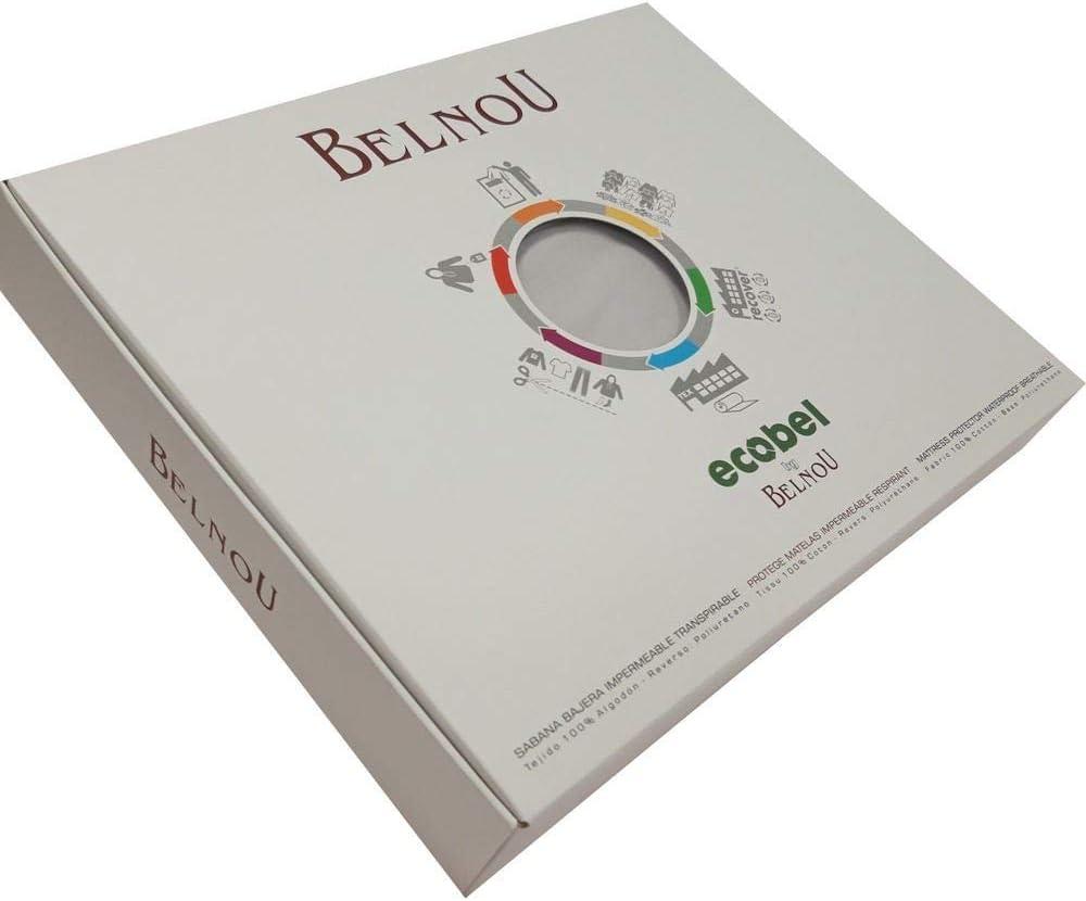 Belnou SÁBANA Bajera Color ECOBEL Impermeable Y Transpirable (Blanco, 150X190/200+30CM): Amazon.es: Hogar