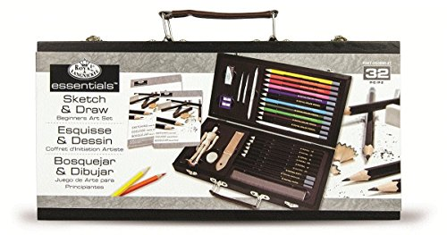 ROYAL BRUSH RYLRSET-DS3000 Sketching and Drawing Artist Set for Beginners, Multicolor