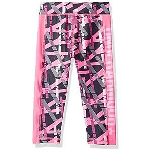 Under Armour Little Girls' Core Active Capri Legging, Pink Punk, 6