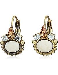 Sorrelli Petite Oval Semi-Precious French Wire Drop Earrings