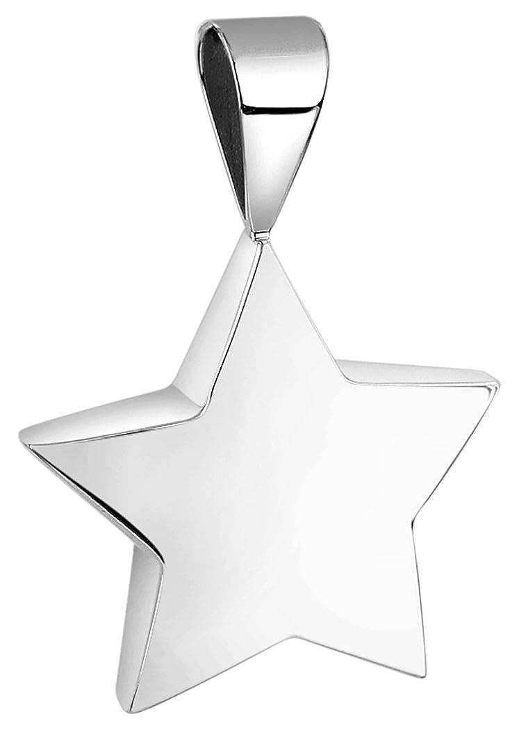 Nenalina Stern Anhä nger fü r Damen Kette oder Halskette glä nzend in 925 Sterling Silber, 361309-090