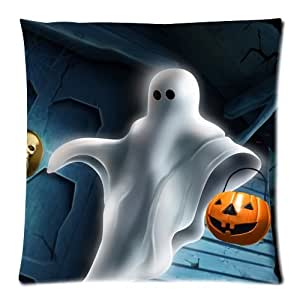 Halloween Zippered Throw Pillow Cases Cover Cushion Case 18x18 (Two sides)