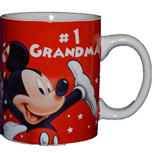 Authentic Disney Mickey Mouse & Friends #1 Grandma 11oz Coffee Mug Cup White (1 Grandma Mug)