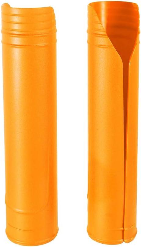 Protezioni Forcella Superiori per Moto Involucri di Plastica Dura Copertura Protettiva per Forcella con Diametro da 50mm-60mm Accessori Universali Nero