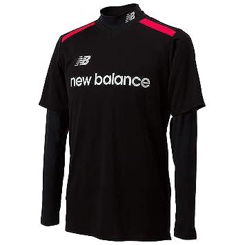 0f0ee7b30bedb ニューバランス(New Balance) プラシャツとロングインナーセット JMTF8824 BK ブラック M