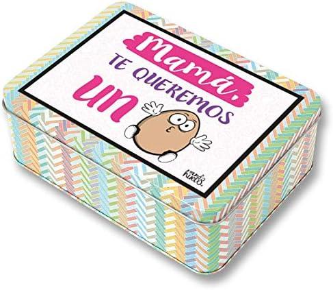 Regalo mamá. Pack Caja metálica 18x13x6 cm, Bolsa 35x40 cm ...