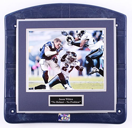 (Dallas Cowboys Texas Stadium AUTHENTIC Jason Witten Image Photo Seat Bottom Framed COA)