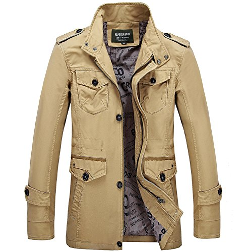 Men's Spring Plus Size Coats Outdoor Practical Wear Resistance Casual Jacket