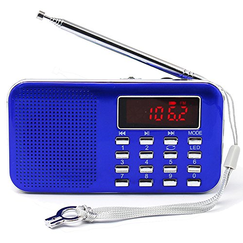 Mifine Mini Digital AM/FM Pocket Radio Fashion Stereo - Portable Am Fm Digital Radio