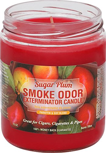 Smoke Odor Exterminator 13oz Jar Candle, Sugar Plum