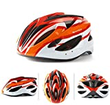 Bicycle Helmet Safety Protection Cool Integrally Molded Helmet 15 Hole Size 56-62Cm - Orange