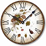 Item C6013 Vintage Style 10.5 Inch Rustic Leaves Clock Review