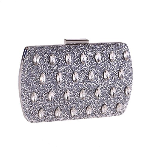 Women For Clutch Diamond Handbag Purse Silver Color Evening Shoulder Bag Bag Glod KERVINFENDRIYUN Crossbody wfRqaxFT1S