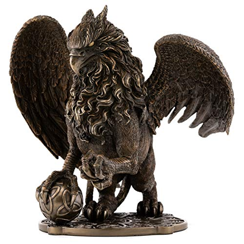 Top Collection Celtic Griffin Statue - Protector of Treasures and Priceless Possessions Gryphon Sculpture in Premium Cold Cast Bronze-9.5-Inch King of The Creatures - Powerful and Majestic Figurine (Sculpture Lion Bronze)