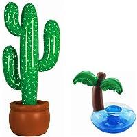 STOBOK 2 Piezas Posavasos de Flotador Inflador Cactus