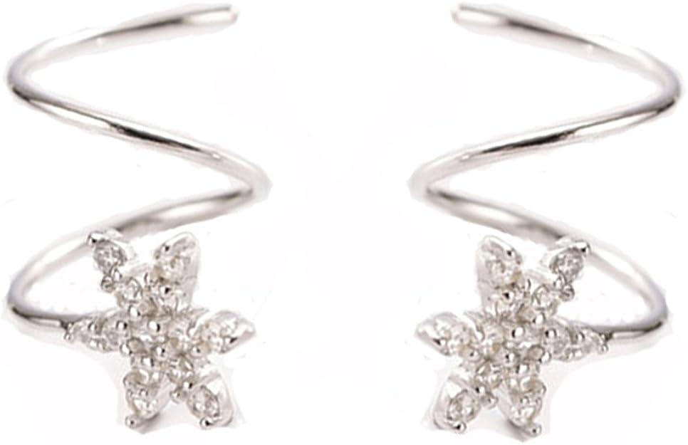 YESLADY Wrap Double Twist Ear Plug Earring Spiral Helix Stud Ear Climber Earrings