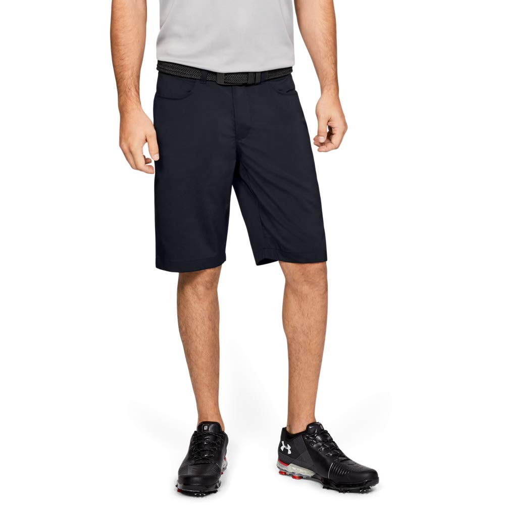 Under Armour Men's Leaderboard Golf Shorts, Black (001)/Black, 40 by Under Armour