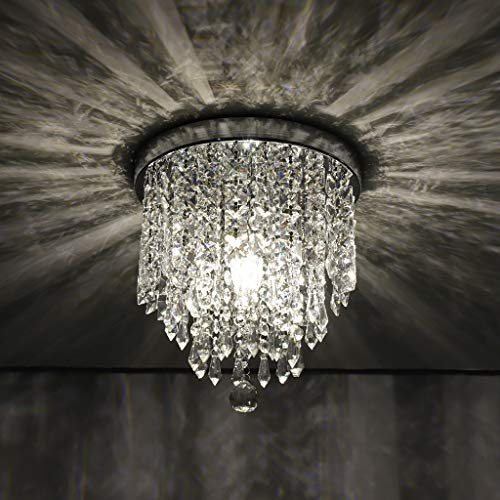 Iusun Hanging Ceiling Lamp, Chandelier Crystal Ball Fixture Modern Vintage Pendeant HT.9.84