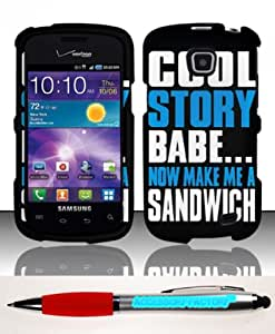 For Samsung Illusion Galaxy Proclaim i110 (Verizon Straight Talk) Rubberized Design Case Cover Protector - Cool Story Babe