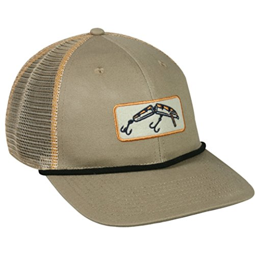 Outdoor Cap Fishing Felt Patch Mesh Back Snap Back Fishing Hat - Ropes Rowdy