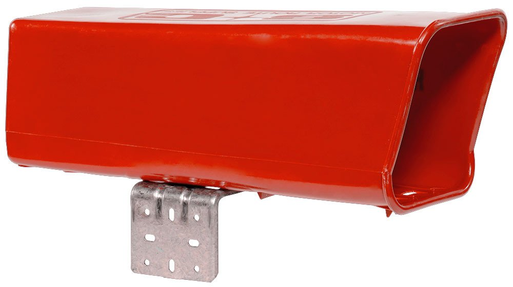 Plastic Newspaper Delivery Tube Box Receptacle & Mounting Bracket, Red